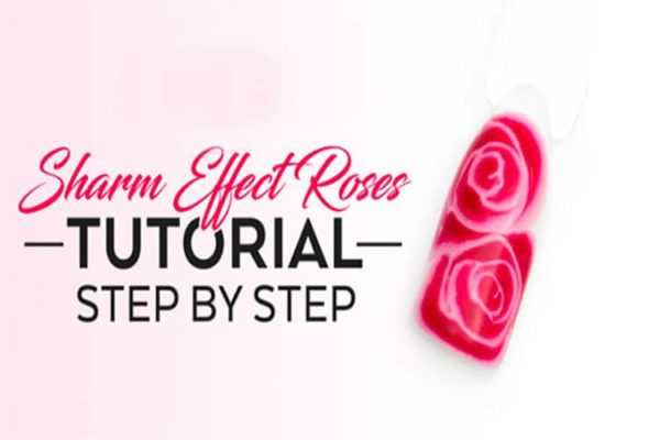 step by step rose nail art